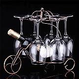 LL-COEUR Carro de Combate Soporte Botella de Vino Decorativo Botellero Vino Original Artesanía 330 x 240 x 320 mm