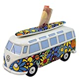 VW Collection by BRISA VW Bus Samba Spardose / Design: Flower