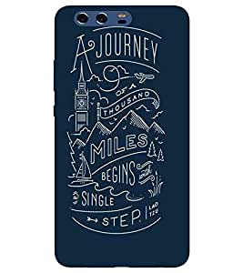 For Huawei P10 Plus a journey of a thousand miles begins with single step ( ) Printed Designer Back Case Cover By CHAPLOOS