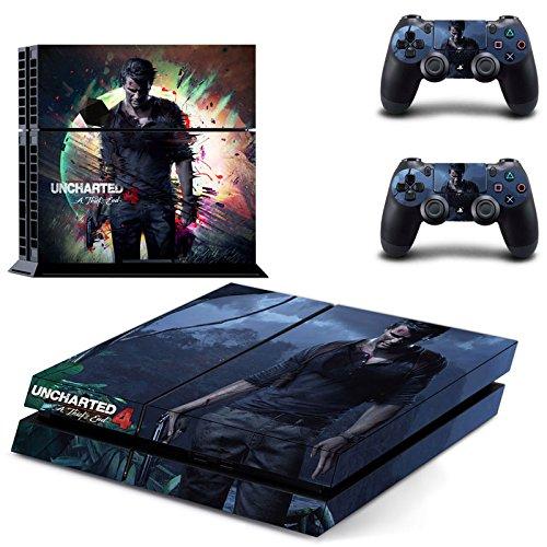 Playstation-4-2-Controller-Aufkleber-Schutzfolie-Set-Uncharted-4-PS4