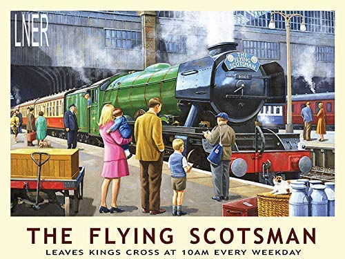 RKO The Flying Scotsman Kings Cross Dampf Locomotive-Parent - 20 x 15 cm -