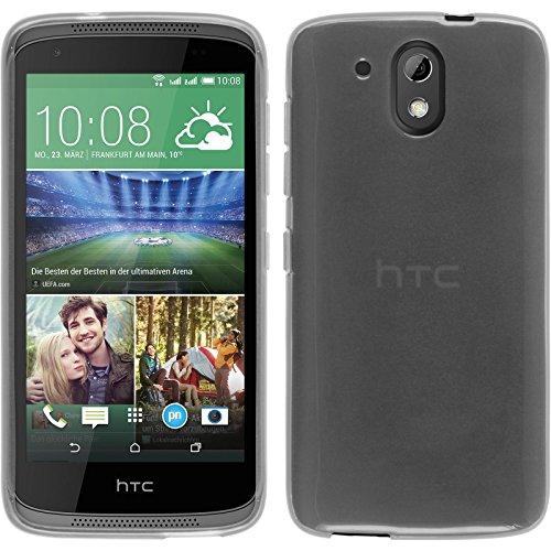 PhoneNatic Case für HTC Desire 526G+ Hülle Silikon weiß, transparent + 2 Schutzfolien