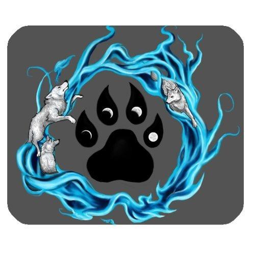 Wolf Paw Print Tattoo Design, rutschhemmenden Rückseite Mauspad, Mousepad, Gaming Mousepad (mit Hundemotiv Maus Pad)