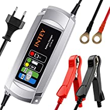 INTEY Cargador de batería inteligente 5 Amp para baterías de 6/12v, Fácil de operar y llevar, Buena aplicabilidad, Precioso con más amperio de carga