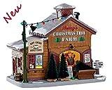 Lemax 75257 - Henrys Christmas Tree Farm - Beleuchteter LED Baumverkauf/Baumfarm - Neu 2018 - Harvest Crossing - Kleine Weihnachtswelt/Weihnachtsdorf