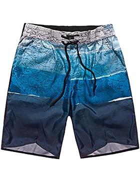 Hibote Traje de Baño Bañador para hombre de Natación Pantalones cortos de playa Estilo Deportivo EU S-EU 5XL