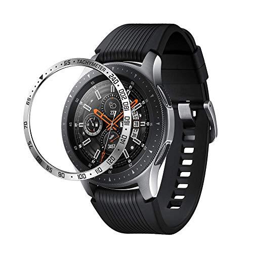 Aottom Kompatibel mit Lünette für Samsung Gear S3 Frontier Schutz Galaxy Watch 46mm Lünette,Schutzhülle für Smartwatch Gear S3 Classic Edelstahl Hülle Bezel Ring Lünette für Galaxy Watch 46mm Zubehör
