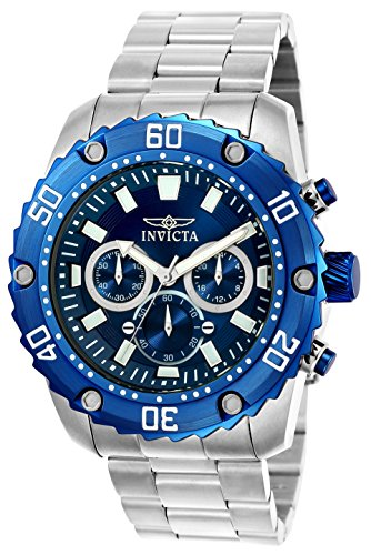 Invicta 22517 Pro Diver Men's Wrist Watch Stainless Steel Quartz Blue Dial