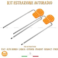 Kit Extracción Radio Vehículos Fiat Lancia Alfa Peugeot Renault Citroen Ford llaves con asas