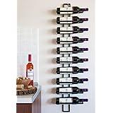 DanDiBo Wijnrek flessenrek metaal zwart wand Dit 116 cm voor 10 flessen flessenstandaard flessenhouder