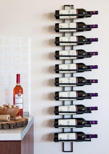 #DanDiBo Weinregal Flaschenregal Metall Schwarz Wand Dies 116 cm für 10 Flaschen Flaschenständer Flaschenhalter#