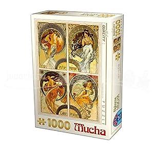 D-Toys 75895/ MU 10 - Puzzle (1000 Piezas), diseño de Alphonse Mucha Arts