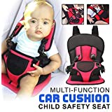 A rtistque Baby Adjustable Car Cushion Seat with Safety Belt Multi-Function (Colour May Vary)