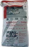ROMPOX® - DRÄN 2K-Epoxidharz Pflasterfugenmörtel 26,8 kg - basalt Füllstoff 25 kg Harz-Härter 1,8 kg - Pflasterfugenmörtel stellen Grundlage für feste und saubere Pflasterfuge