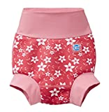 Splash About New Improved Happy Nappy, Pannolino da Nuoto Riutilizzabile Unisex-Baby, Bocciolo di Rosa, 2-3 Anni