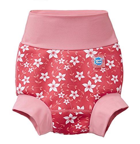 Splash About Unisex-Baby Neue Und Verbesserte Happy Nappy Windel Schwimmen, Pink Blossom, 12-24 Monate