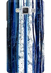 AMEZ designer printed 3d premium high quality back case cover for Samsung Galaxy A5 (white blue pattern )