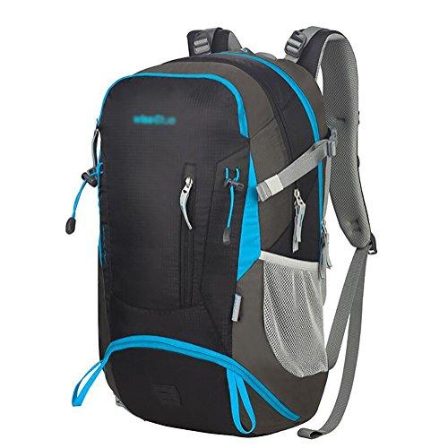HWLXBB Outdoor Bergsteigen Paket Männer und Frauen 33L Wasserdichte Mehrzweck-Bergsteigen Tasche Wandern Camping Bergsteigen Rucksack 2*