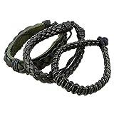 Schwarz Indisches Lederarmband Für Männer - Lederarmband Im Layered-Wrap-Stil Für Männer - Handgearbeiteter Lederarmband