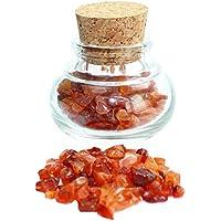 budawi® - Karneol Edelsteine im Dekoglas ca. 55g, echte Edelsteine getrommelt Carneol preisvergleich bei billige-tabletten.eu