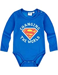 Body bebé niño manga larga Superman azul de 3a 24Meses