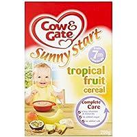 Cow & Gate Ensoleillé Démarrer Tropical Fruit céréales 7mois + (200g) -