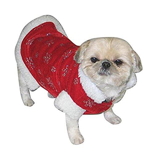 Qprods - Manteau de Noël pour chien. Costume de Père Noel pour les petits chiens ou les chats