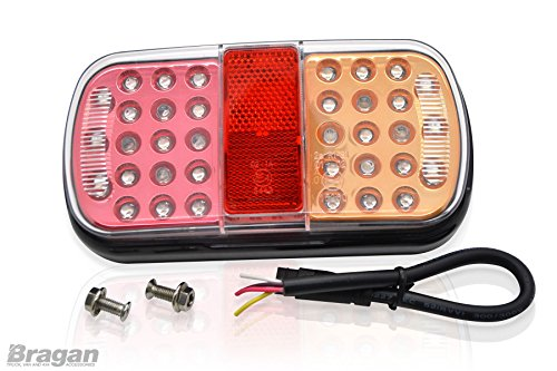 Led Lights For Tractor Trailers : V led rear trailer tail lights tractor truck van
