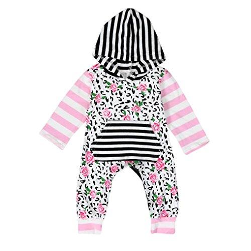 Bekleidung Longra Neugeborenes Baby jungen Mädchen drucken Baumwolle Strampler Overall Bodysuit Kleidung Outfit (0 -24 Monate) (70CM 0-6 Monate)