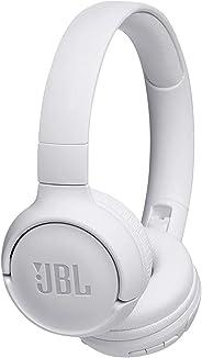 JBL Tune T500BT Powerful Bass Bluetooth Wireless On-Ear Headphones with Mic (White)