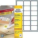 Avery Zweckform L6025REV-25 Etiketten (A4, 450 Plus 90 Universal-Etiketten extra, ablösbar, 63,5 x 46,6 mm) 30 Blatt, weiß