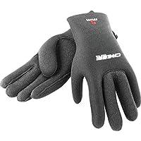 Cressi High Stretch Gloves, Guanti in Neoprene Elastico 3.5 mm per Apnea e Immersioni, Unisex Adulto, Nero/Rosso, M