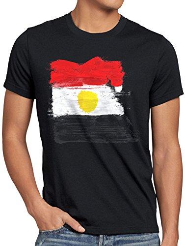 CottonCloud Flagge Ägypten Herren T-Shirt Fußball Sport Egypt -