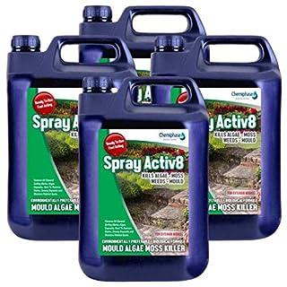 Spray activ8-20 L Patio Decking Fencing Mould Algae Moss Killer Drive Cleaner