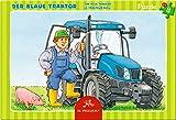 Spiegelburg 14086 Kleines Rahmenpuzzle Der blaue Traktor (8 Teile)