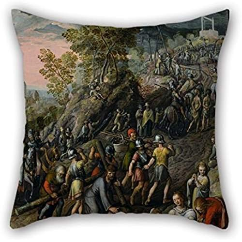 (Kissenbezüge Oil Painting Joachim Beuckelaer - Christ Carrying The Cross Throw Pillow Case 18 X 18 Inches/45 By 45 Cm Best Choice For Relatives,drawing Room,son,home,lounge,office With Each Si)