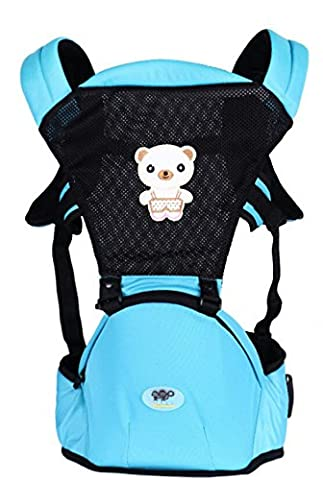 OGTOP Infants Austin Park Vielseitig Atmungsaktiv Dreifach Baby Taille Stuhl Babyriemen,Blue
