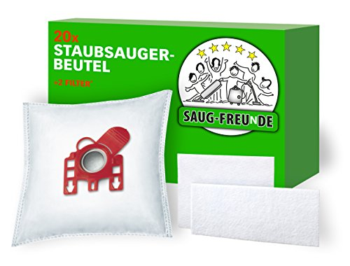 SAUG-FREUnDE I 20 Staubsaugerbeutel für Miele Classic C1 Baureihe: C 1, Ecoline SBAG1, Complete C2 Baureihe: C 2, Tango Ecoline SFAG1, SFRG2