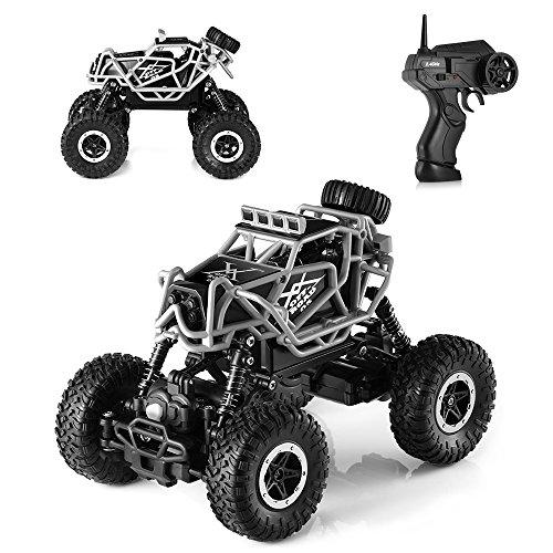 H&B HB Ferngesteuertes Auto 2,4 GHz RC Auto Racing Truck 1:43 Radio Fahrzeug RC Offroad Crawler Klettern Spielzeug mit 60M Steuerbereich für Kinder&Erwachsene
