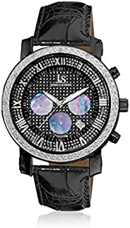 Joshua & Sons Men's Black Dial Leather Band Watch - Js-28-02, Analog