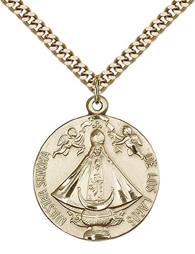14ct-gold-filled-senora-de-los-lagos-pendant-with-24-gold-plated-stainless-steel-heavy-curb-chain
