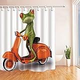Funny Animla Decor Shower Curtains By KOTOM Frog - Best Reviews Guide