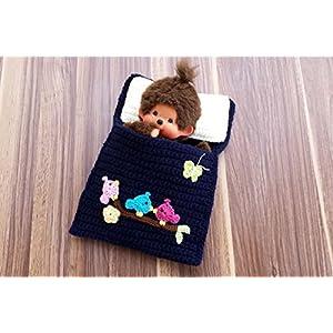 Puppenbettchen - Schlafsack für Monchichi 20 cm Alle Vögel sind schon da Nr. 18