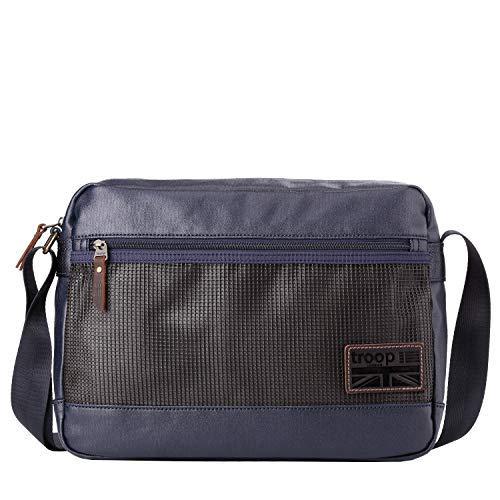 Troop London Beschichtetes Leinen Leder Schultertasche Messenger Taschen für Herren und Damen Laptop Taschen für Herren und Damen Leinentasche für Reisen und Works > A4 Größe - TRP0459 -