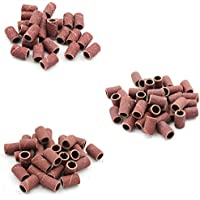 300 PCS de 3 modelos esmalte de uñas especial pulido anillo de arena para la herramienta de perforación de uñas máquina de archivo de manicura ((80 #, 120 #, 180 #)