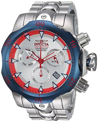 Invicta Herren analog Quarz Uhr mit Edelstahl Armband 24246 (Für Invicta Männer Venom Uhren)