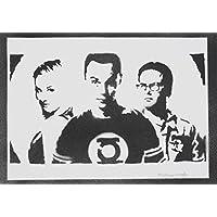 The Big Bang Theory Sheldon Penny Und Leonard Handmade Street Art - Artwork - Poster
