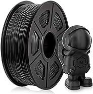 PLA Filament 1.75mm, PLA 3D Printer Filament for 3D Printer 3D Pen, PLA Filament 1KG (2.2 lb) PLA Black