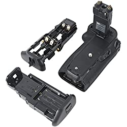 DSTE Multi-Puissance Vertical Batterie Poignée Titulaire Compatible pour Canon EOS 7D Mark II Digital SLR Caméra comme BG-E16