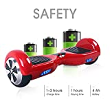 """BEBK Two Wheel Self Balancing Scooter 6.5"""" Hover Board with 2 * 350W Motor and LED"""